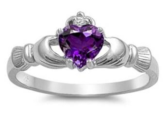 Claddagh Ring, Celtic Jewelry, Irish Jewelry, Bridal Jewelry, Irish Ring, Heart Jewelry, Anniversary Gift, Girlfriend Gift, Wife Gift
