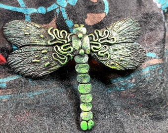 Dragonfly Brooch, Nature Pin, Inspirational Gift, Outlander Jewelry, Anniversary Gift, Cancer Survivor Gift, Celtic Brooch, Scarf Pin