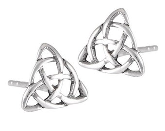 Celtic Knot Stud Earrings, Irish Jewelry, Celtic Jewelry, Anniversary Gift, Trinity Knot Jewelry, Norse Jewelry, Triquetra , Wiccan Jewelry