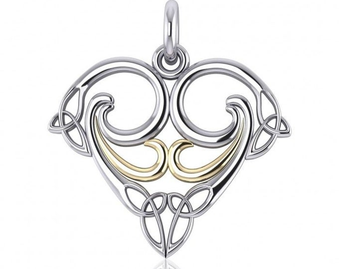 Triskele Necklace, Celtic Jewelry, Mom Gift, Irish Jewelry, Sister Gift, Bride Gift, Wiccan Jewelry, Trinity Knot Necklace, Wife Gift