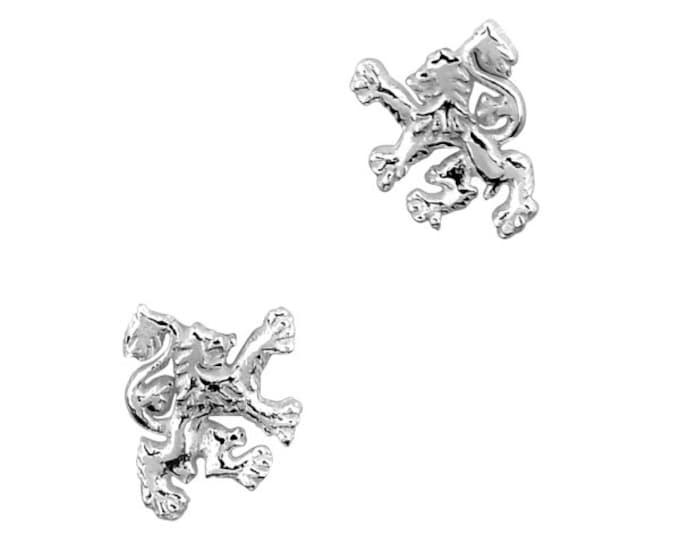 Scotland Lion Stud Earrings, Scotland Jewelry, Lion Jewelry, Animal Jewelry, Celtic Jewelry, Anniversary, Scottish Gifts, Nature Jewelry