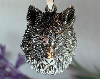 Wolf Necklace, Celtic Jewelry, Norse Jewelry, Pagan Jewelry, Viking Jewelry, Animal Jewelry, Lone Wolf Gift, Direwolf Jewelry, Dad Gift