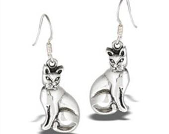 Cat Earrings, Animal Earrings, Cat Lover, Cat Mom, Animal Jewelry, Nature Jewelry, Feline, Kitty, Gift for Her, Animal Earrings