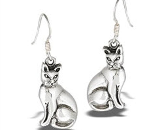 Imperial Cat Sterling Silver Earrings