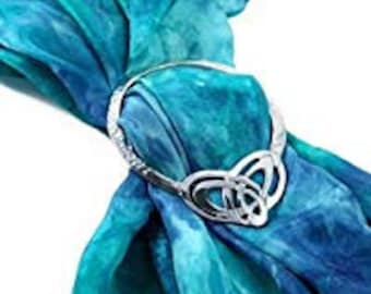Celtic Double Heart Scarf Ring, Scotland Jewelry, Irish Jewelry, Celtic Jewelry, Mom Gift, Wife Gift, Sister Gift, Friend Gift