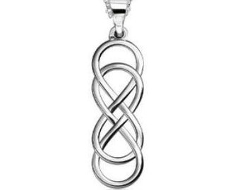 Celtic Knot Necklace, Double Infinity Jewelry, Celtic Jewelry, Anniversary Gift, Mom Gift, Best Friend Gift, Girlfriend Gift, Irish Jewelry