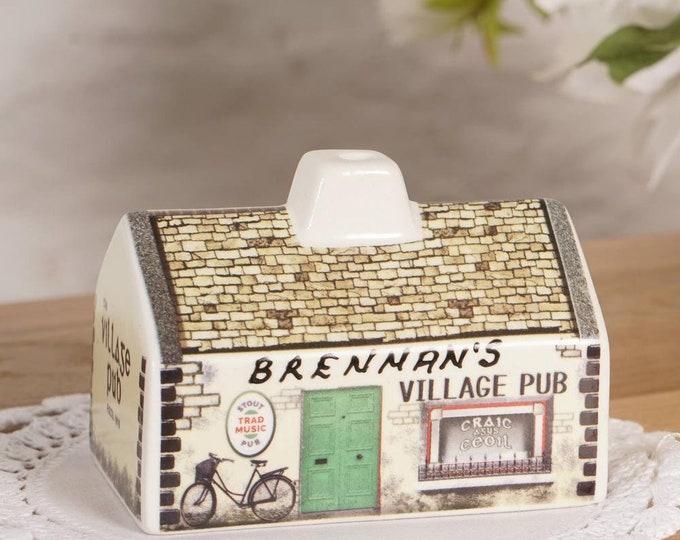 Irish Pub Incense Burner, Irish Gift, Irish Turf, Peat Burner, Turf Burner, Ireland Turf, Retirement Gift, New Home Gift, Celtic Gift