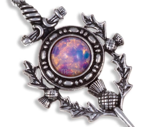 Thistle Sword Kilt Pin, Celtic Wedding, Groom, Best Man, Highland Bagpiper, Father's Day, Gift for Him, Dad, Fireman, Police, Feis