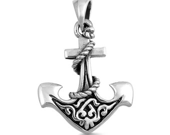 Anchor Necklace, Nautical Jewelry, Christian Jewelry, Hope Necklace, Retirement Gift, Survivor Gift, Celtic Jewelry, Ship Jewelry