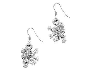 Lion Earrings, Scotland Jewelry, Lion Jewelry, Animal Jewelry, Celtic Jewelry, Anniversary Gift, Scottish Gifts, Nature Jewelry
