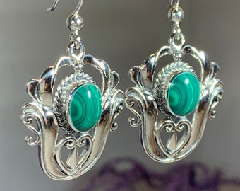 Celtic Flower Earrings, Celtic Jewelry, Wiccan Jewelry, Gemstone Jewelry, Celtic Knot Jewelry, Anniversary Gift, Pagan Jewelry, Wife Gift
