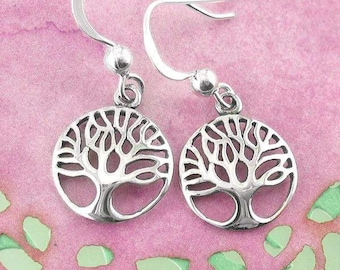 Tree of Life Earrings, Celtic Jewelry, Norse Jewelry, Irish Jewelry, Mom Gift, Wife Gift, Anniversary, Girlfriend Gift, Teacher Gift