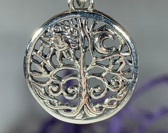 Tree of Life Necklace, Celtic Jewelry, Irish Jewelry, Yoga Jewelry, Anniversary Gift, Wiccan Jewelry, Nature Jewelry, Celestial Jewelry