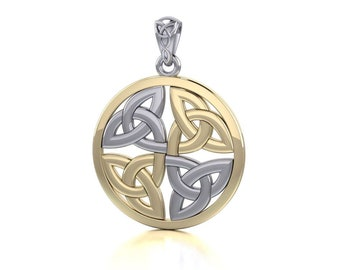 Trinity Knot Necklace, Irish Jewelry, Triquetra Pendant, Celtic Jewelry, Anniversary Gift, Wiccan Jewelry, Pagan Necklace, Viking Jewelry