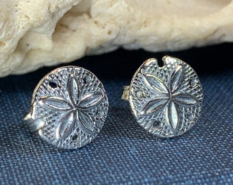Sand Dollar Earrings, Seashell Jewelry, Nautical Jewelry, Retirement Gift, Gift for Her, Christian Jewelry, Nature Jewelry, Beach Jewelry