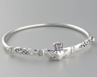 Claddagh Bracelet, Celtic Jewelry, Irish Jewelry, Bridal Jewelry, Heart Jewelry, Girlfriend Gift, Wife Gift, Anniversary Gift, Celtic Knot