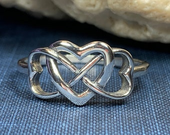 Celtic Heart Ring, Celtic Jewelry, Infinity Ring, Celtic Knot Jewelry, Irish Ring, Irish Dance Gift, Anniversary Gift, Bridal Ring, Mom Gift