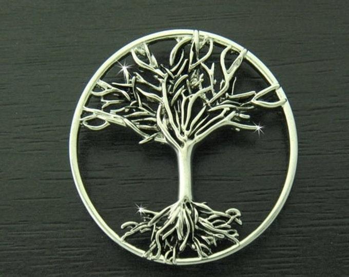 Tree of Life Brooch, Scotland Jewelry, Celtic Brooch, Scarf Pin, Coat Pin, Tree Jewelry, Nature Jewelry, Wiccan Jewelry, Pagan Jewelry