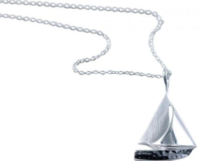 Boat Necklace, Sailboat, Nautical, Gift for Her, Silver Boat, Mother, Sister, Girlfriend, Vacation, Sailor