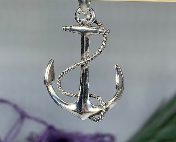 Anchor Necklace, Nautical Jewelry, Christian Jewelry, Hope Necklace, Retirement Gift, Survivor Gift, Mindfulness Gift, Dad Gift