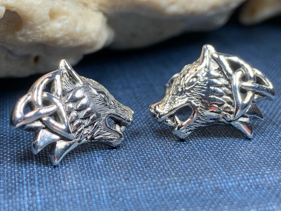 Wolf Earrings, Celtic Jewelry, Norse Jewelry, Pagan Jewelry, Viking Jewelry, Howling Wolf Earrings, Graduation Gift, Wolf Jewelry, Mom Gift