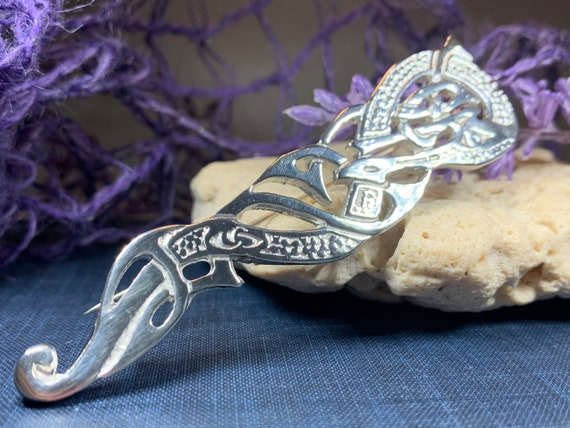 Dragon Kilt Pin, Scottish Jewelry, Tartan Pin, Cape Pin, Fireman Gift, Police Gift, Bagpipes, Scotland Pin, Brother Gift, Viking Jewelry