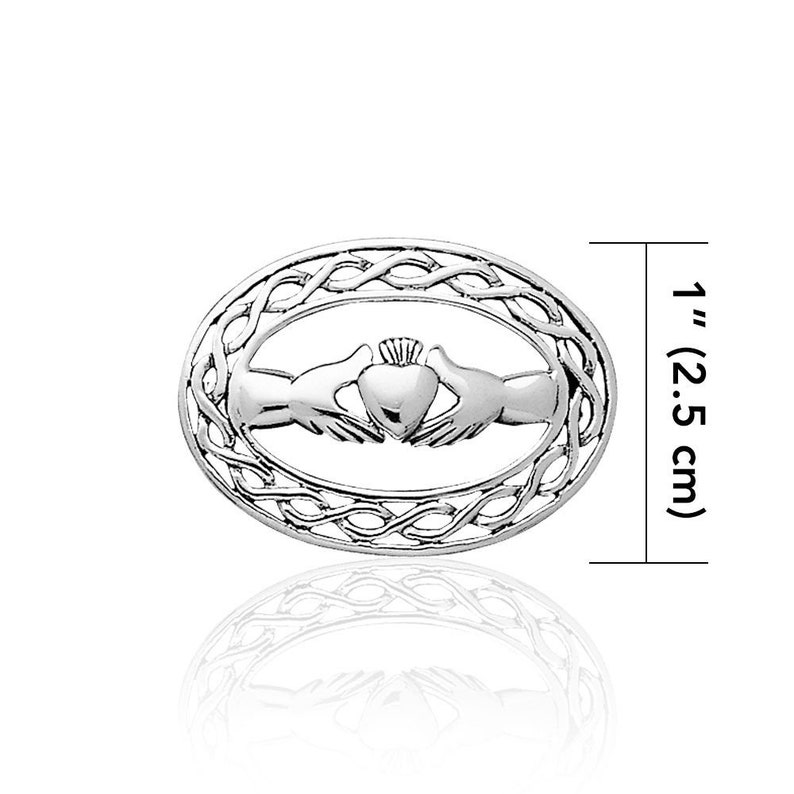 Bride Gift Irish Jewelry Celtic Pin Wedding Jewelry Claddagh Pin Irish Jewelry Girlfriend Gift Claddagh Jewelry Celtic Brooch