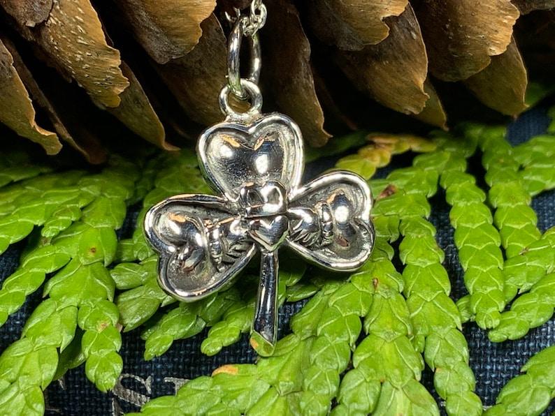Girlfriend Gift Irish Jewelry Shamrock Necklace Mom Gift Best Friend Gift Irish Dance Gift Clover Necklace Claddagh Necklace