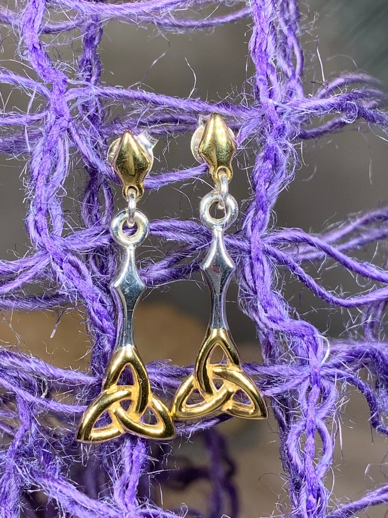 Mom Gift Graduation Gift Celtic Knot Jewelry Outlander Jewelry Graduation Gift Irish Jewelry Trinity Knot Earrings Celtic Jewelry