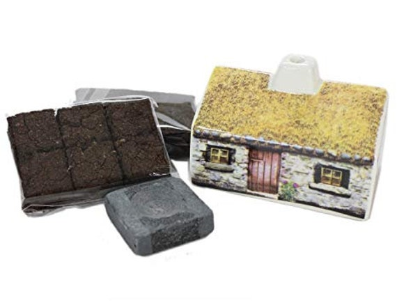 Scottish Cottage Incense Burner, Scotland Gift, Scotland Turf, Peat Burner, Turf Burner, Retirement Gift, New Home Gift, Celtic Gift