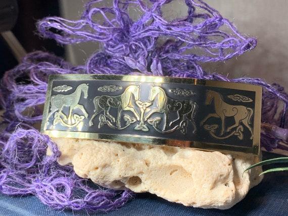 Celtic Horse Hair Clip, Celtic Barrette, Irish Jewelry, Celtic Hair Slide, Friendship Gift, Scotland Jewelry, Norse Jewelry, Celtic Barrette