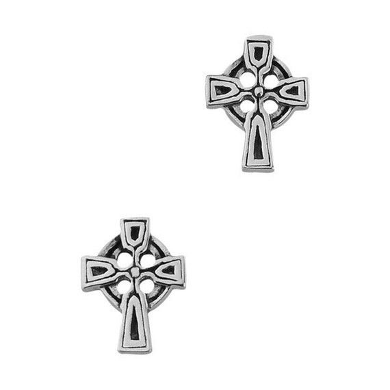 Celtic Cross Earrings, Celtic Jewelry, First Communion Gift, Confirmation Gift, Bridal Jewelry, Sister Gift, Ireland Cross, Religious Gift