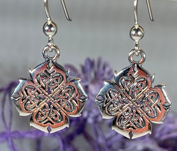 Celtic Knot Earrings, Irish Jewelry, Wiccan Jewelry, Mom Gift, Wife Gift, Endless Knot Earrings, Scotland Jewelry, Anniversary Gift