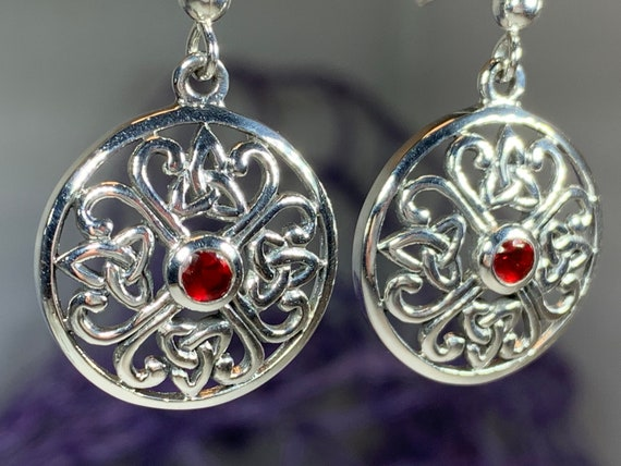 Trinity Knot Earrings, Celtic Jewelry, Celtic Knot Earrings, Irish Jewelry, Mom Gift, Ireland Gift, Scotland Jewelry, Norse Jewelry