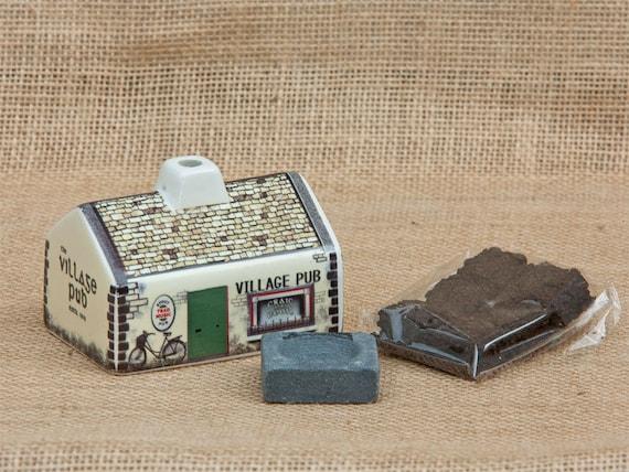 Irish Cottage Incense Burner, Irish Pub Gift, Irish Gift, Irish Turf, Peat Burner, Turf Burner, Ireland Turf, New Home Gift, Celtic Gift