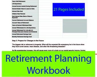 Retirement Family Finance Planner Workbook/ Budget/ Monthly Planner/ Money Organizer/ Planner Budget/ Debt Payoff/ Finance