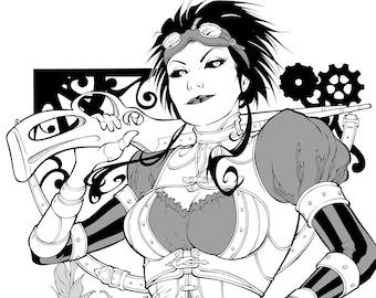 Lady Mechanika - LIMITED RUN Print