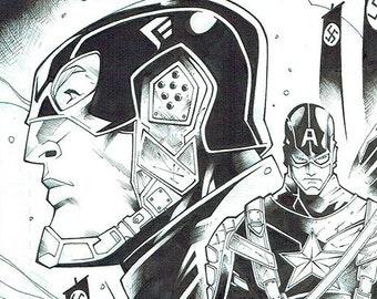 Captain America - Original Inked Art