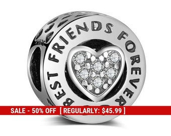 Sterling Silver Forever Friends Charm e2849de988