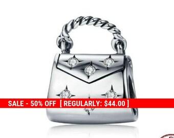0b4ca3ed2 Sterling Silver Purse Charm, Purse Pendant, Fashion Charm, Pocketbook Charm,  Bag Charm, Ladies Charm, Deco Purse, Fits Pandora Bracelet