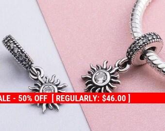 abd576691 Sterling Silver Sun Charm, Sunshine Charm, Sun Jewelry, Celestial Charm,  Sunshine Jewelry, Beach Charms, Fits Pandora Bracelet
