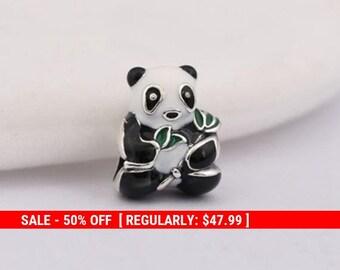 841e92ac9 Sterling Silver Panda Charm, Gifts for Her, Panda Pendant, Panda Jewelry,  Animal Lover, Fits Pandora Bracelet, Zoo Charm, Animal Charm