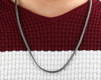 Genuine 925 Sterling Silver Foxtail Chain, 23 inches, Men, Women, Charity Donation