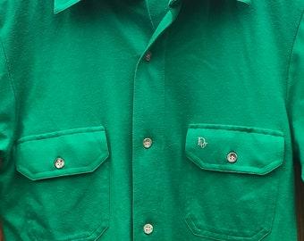 70s Christian Dior Monsieur Button Up Short Sleeved Pocket Shirt