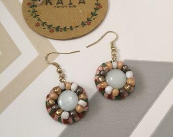Colorful handbeaded  earrings