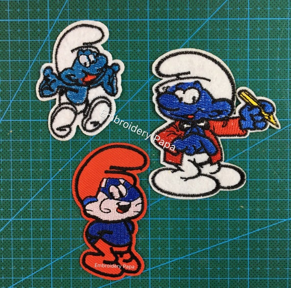 Papa Smurf Embroidered Iron//Sew On Patch