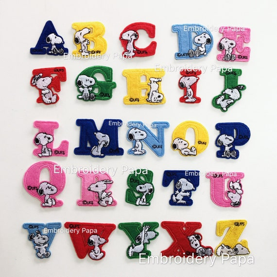 26 Color Alphabet Letters Sew Iron on Patches Bag Cap Jeans Applique Badge Craft