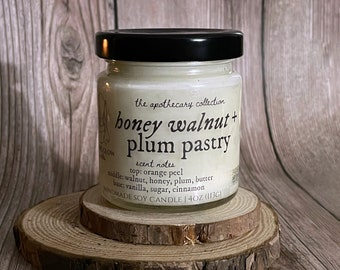 Honey Walnut & Plum Pastry | Natural Scented Soy Candle or Waxmelt | Premium Home Fragrance | Autumn Candle | Fall | Hygge | Cozy | Foodie