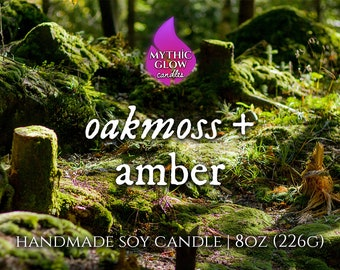 Oakmoss & Amber | Natural Scented Candle or Wax Melt | Premium Home Fragrance