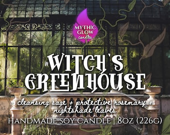 Witch's Greenhouse | Wizarding Inspired Soy Candle or Wax Melt | Magic Candle | Fantasy Book Candle | Bookish Gift